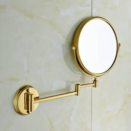 卫欲无限 全铜双面美容镜 化妆镜 放大镜 M090 金色