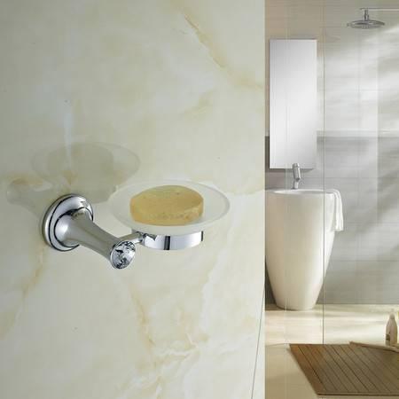 卫欲无限 施华洛水晶奢华银色系列 卫浴挂件 单碟 香皂碟