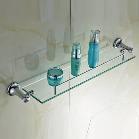 卫欲无限 施华洛水晶奢华银色系列 卫浴挂件 玻璃化妆品架