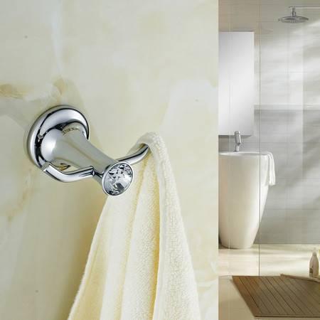 卫欲无限 施华洛水晶奢华银色系列 卫浴挂件 双钩 衣勾