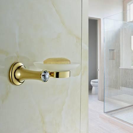 卫欲无限 施华洛水晶奢华欧式系列 镀金卫浴挂件 单碟 香皂碟 肥皂碟 肥皂架 烟灰碟