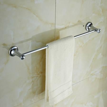 卫欲无限 施华洛水晶奢华银色系列 卫浴挂件 毛巾架 单杆