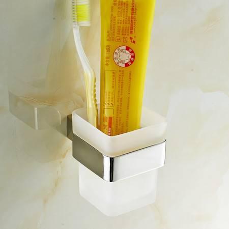 卫欲无限 里诺极简主义系列 镜面304不锈钢卫浴挂件 洗漱架 单杯