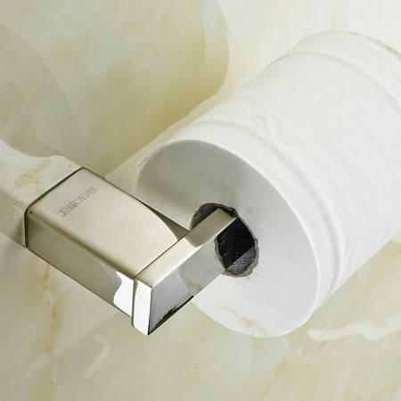 卫欲无限 里诺极简主义系列 镜面304不锈钢卫浴挂件 卷纸器纸巾架
