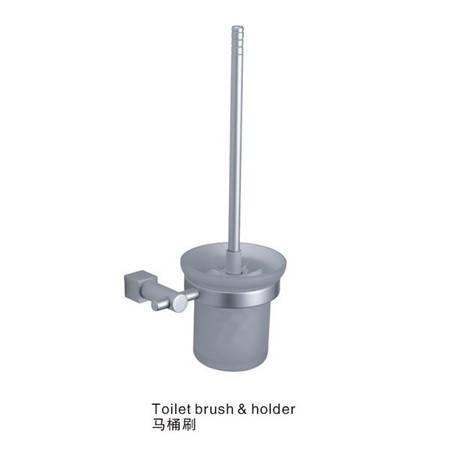 卫欲无限 极简系列 太空铝卫浴挂件 浴室挂件 马桶刷 马桶杯