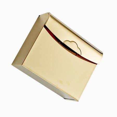 卫欲无限 欧式奢华镀金卫浴挂件 抽纸盒 厕纸盒 卷纸盒 R1406