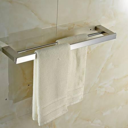 卫欲无限 里诺极简主义系列 镜面304不锈钢卫浴挂件 毛巾架 双杆