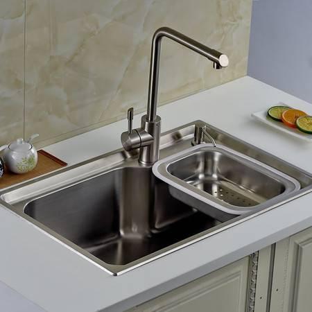 厨欲无限304不锈钢超级大单槽70*46cm 水槽厨盆 全高端配置A7046