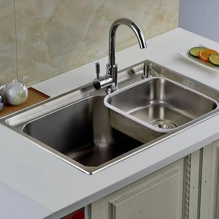 厨欲无限304不锈钢超级大单槽70*46cm 水槽厨盆 全高端配置D7046