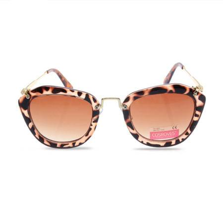 【超级清仓,买1送1,赠品随机】明星大牌爆款时尚潮流猫眼五角形闪亮片方框太阳眼镜墨镜SG33