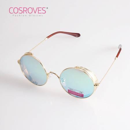 COSROVES 新款圆形金属太阳镜反光彩膜太阳眼镜墨镜SG66