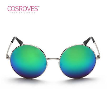 【超级清仓,买1送1,赠品随机】男女同款大牌太阳镜复古圆形墨镜 潮流彩膜太子眼镜SG76