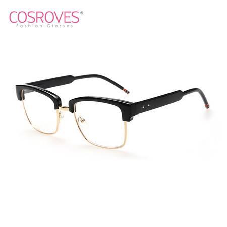 COSROVES 新款时尚大牌个性半框框架眼镜木纹色平光眼镜PG58