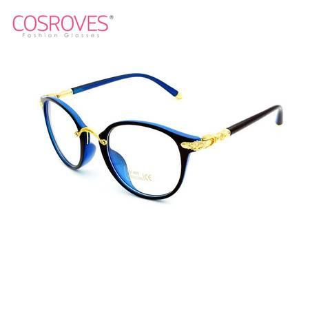 COSROVES 新款奢华精致克罗心平光镜 复古圆形平光眼镜近视眼镜架PG65