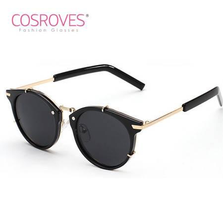 COSROVES 新品时尚撞色太阳镜荧光彩色个性墨镜 明星海报款眼镜SG15006
