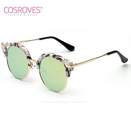 COSROVES 韩国时尚V牌热卖款太阳镜 明星潮流复古蛤蟆镜墨镜SG15017