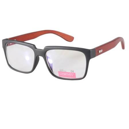 【超级清仓,买1送1,赠品随机】可配近视镜片 时尚潮流男女复古木质眼镜红木腿平镜平光镜PG54