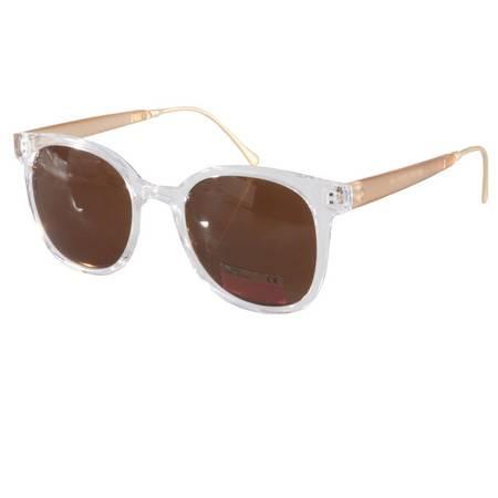 【超级清仓,买1送1,赠品随机】明星款大框太阳镜透明白框太阳镜女潮墨镜SG58