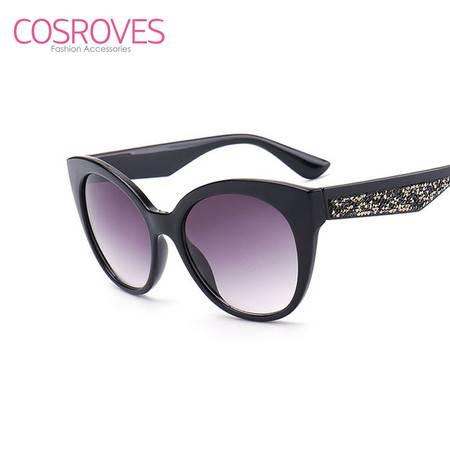 新款太阳镜 猫眼个性彩膜大牌墨镜 气质女款太阳眼镜SG15069