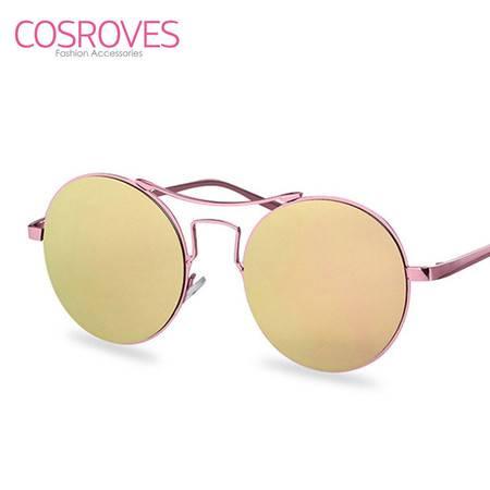 新款太阳镜女款个性复古圆形前卫墨镜街拍防紫外线眼镜SG86