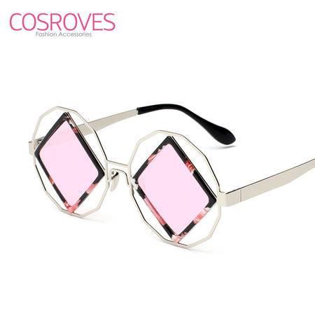 COSROVES 新款潮流时尚圆框方片个性男女太阳眼镜SG15116