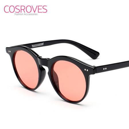 COSROVES 新款海洋片圆框优雅个性墨镜男女街拍太阳镜SG15119