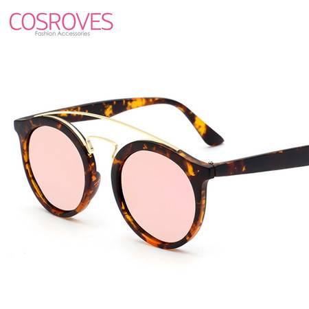 COSROVES 新款潮流金属圆框镂空彩膜男女个性太阳镜墨镜SG15120