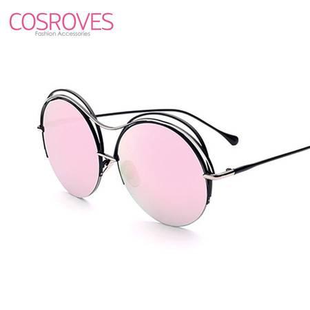 COSROVES 新款时尚欧美圆框墨镜前卫男女太阳镜SG15126