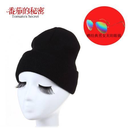【买帽子送眼镜,赠品颜色随机】新款加厚秋冬保暖针织帽 经典男女帽 均码 弹性头围