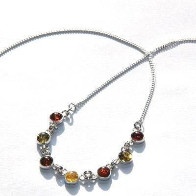 Jubilex 铂丽雅 纯波兰进口 波罗的海琥珀 925银饰 项链 C2