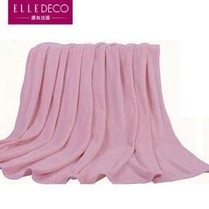 ELLE 粉色心情 素色珊瑚绒毛毯
