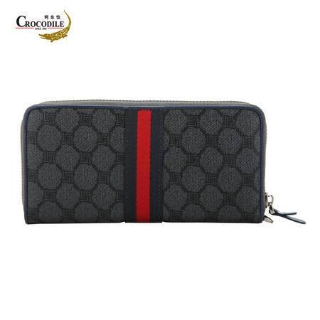 鳄鱼恤(CROCODILE)克林特迷宫系列男女通用时尚手拿包大容量手挽包
