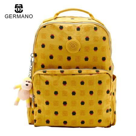 GERMANO爵玛诺背包双肩包正品旅游书包妈咪包凯普林电脑学生女包背包包软包