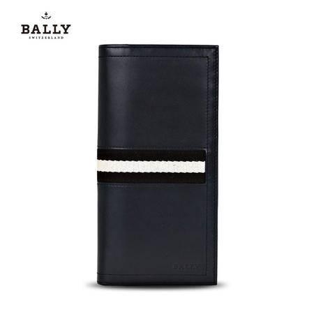 巴利 BALLY 男款TALIRO小牛皮经典织带长款对折钱夹钱包 6166474