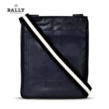巴利 BALLY 男款TERINO小牛皮经典织带竖款拉链邮差斜挎包 6189943