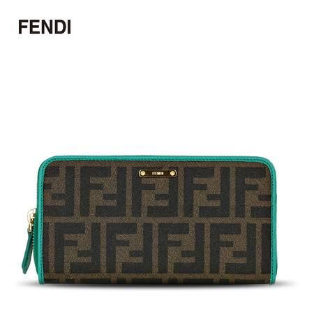 芬迪 Fendi 女款经典双F长款拉链钱夹钱包 8M0299