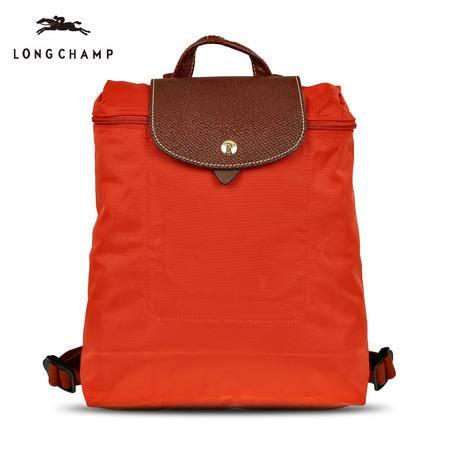 珑骧 Longchamp 女款Le Pliage尼龙配皮折叠拉链双肩包 多色 1699