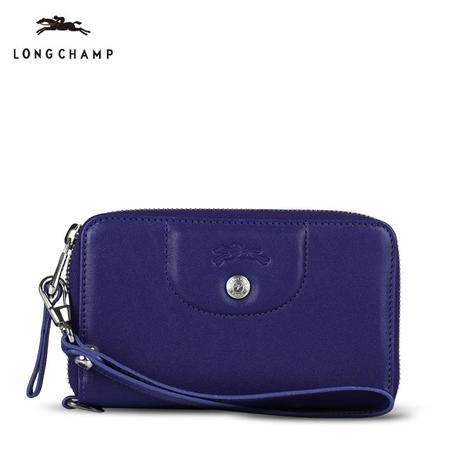 珑骧 Longchamp 女款小羊皮多功能拉链手拎钱夹钱包 3600