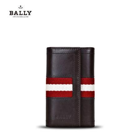 巴利 BALLY 男士TUTO小牛皮织带钥匙包 6168840 6168839