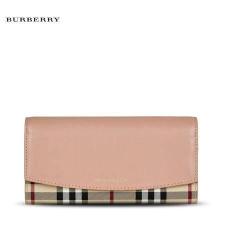 Burberry Porter 格纹长款钱夹#