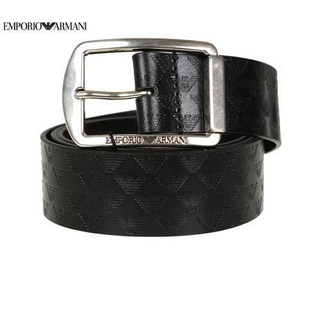 E.Armani 针扣皮带#黑色Y4S080