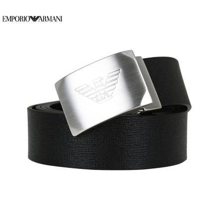 E.Armani 板扣皮带#黑色Y4S076
