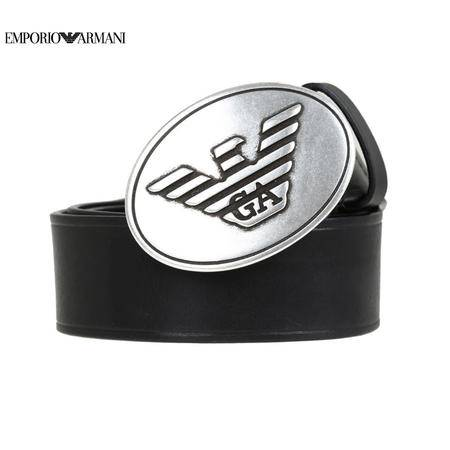 E.Armani 板扣皮带#黑色 Y4S067