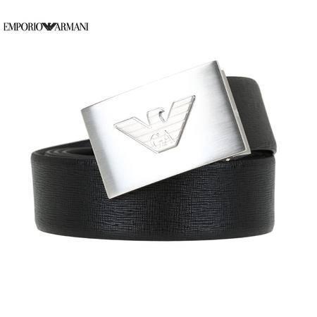 E.Armani 板扣皮带#黑色Y4S098
