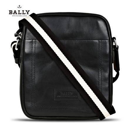 Bally THABO-MD 邮差包# 黑色/米黑条纹