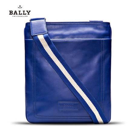 Bally TERINO 邮差包# 蔚蓝/蓝白条纹