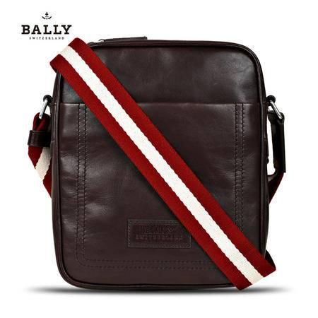 Bally THABO-MD 邮差包# 巧克力/米红条纹