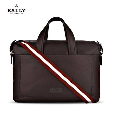 Bally TELAG 公文包#巧克力/米红条纹