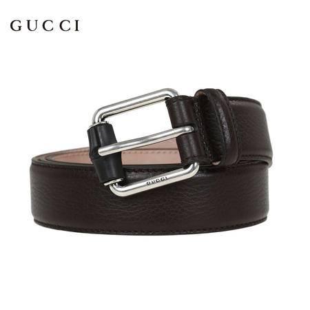 Gucci 经典针扣皮带 深棕