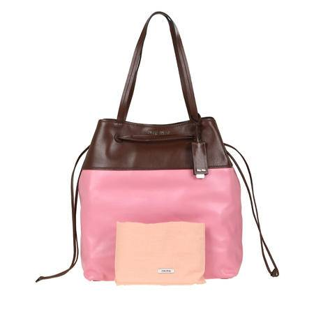 MiuMiu Shopping 购物袋 巧克力/海棠粉 RR2002